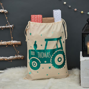 Personalised Tractor Christmas Sack - christmas sale