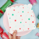 Christmas Colourful Star Paper Party Napkins