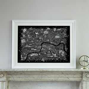 Typographic London Film Map Print - film & tv