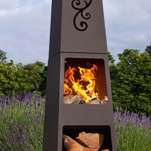 Manoa Chiminea Patio Heater And Log Store - picnics & barbecues
