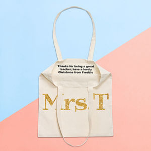 Teacher Secret Message Tote Bag