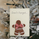 Don't Forget Gingerbread Christmas Memo Board