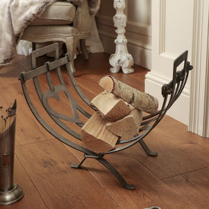 Coeur De Pays Folding Heart Log Cradle