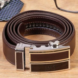Personalised Adjustable Genuine Leather Belt - men's accessories