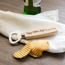Personalised Happy Father's Day Bottle Opener