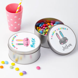 Personalised Easter Rabbit Treat Tin