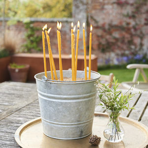 Outdoor Beeswax Candles - garden styling