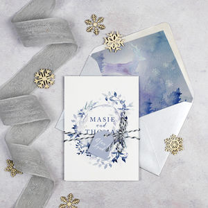 'A Winters Day' Wedding Invitation - new in wedding styling