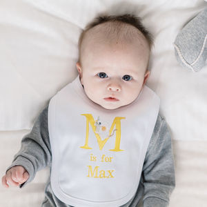 Personalised Alphabet Bib - new baby gifts