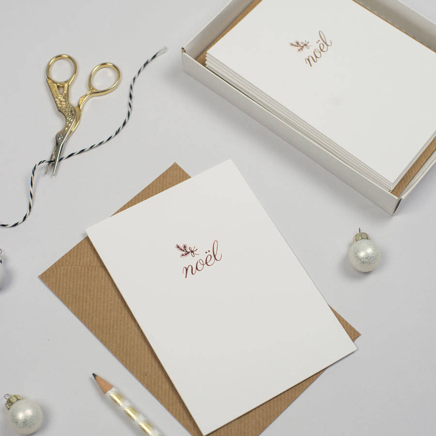pack of six luxury rose gold foil christmas cards - Christmas Card Packs
