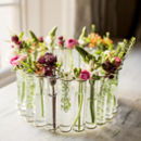 Circular Test Tube Center Piece Vase