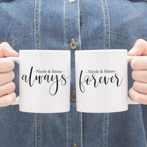 Personalised Always And Forever Couples Mug Gift Set