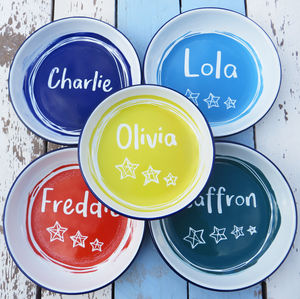 Personalised Enamel Rice Plate - picnics & barbecues