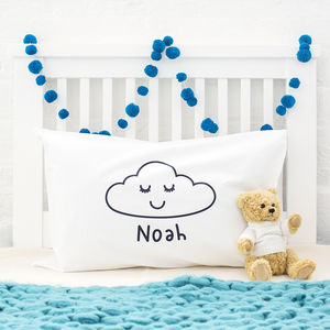 Cloud Personalised Pillow Case - gifts for children