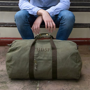Personalised Large Canvas Holdall - bags & cases