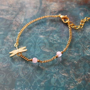Children's Gold Plated Dragonfly Bracelet - children's jewellery