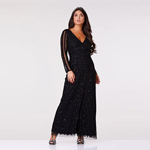 Rosie Hand Embellished Maxi Dress - women's fashion