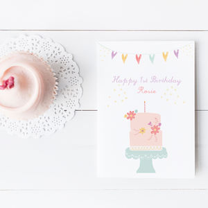 Personalised Happy Birthday 'Cake' Card - birthday cards
