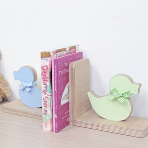 Personalised Wooden Children's Bookends