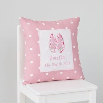Personalised Ballet Shoes Cushion