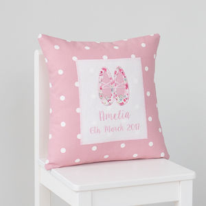 Personalised Ballet Shoes Cushion - children's room