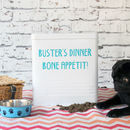 Personalised Large Dog Food Tin