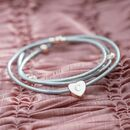 Alessia Heart Charm Leather Bracelet
