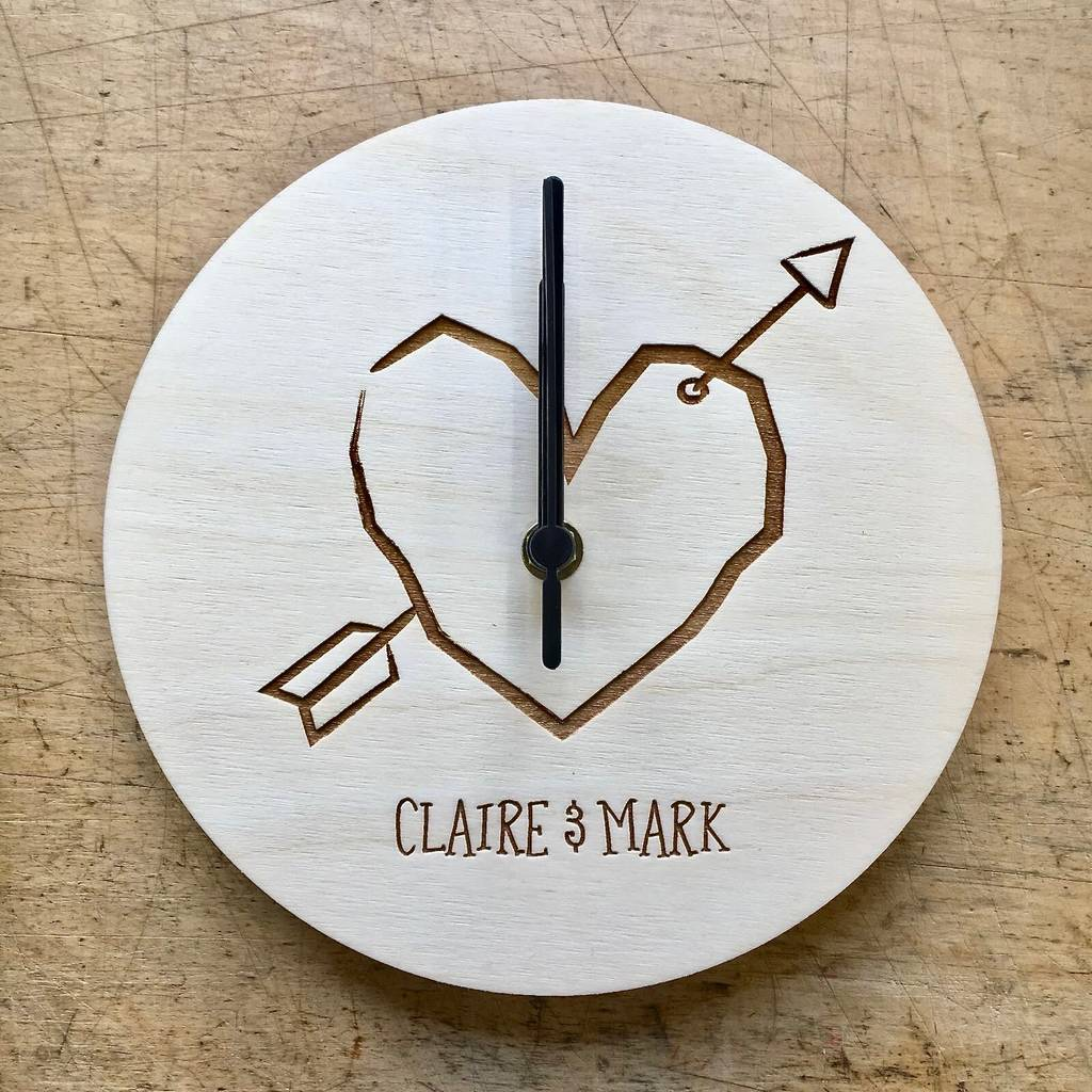 Personalised Couples Wall Clock personalised couples wall