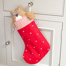 Cranberry Stars Stocking