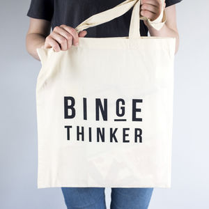 Binge Thinker Tote Bag