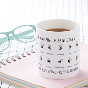 Personalised 'Busy Bees' Teacher's Mug