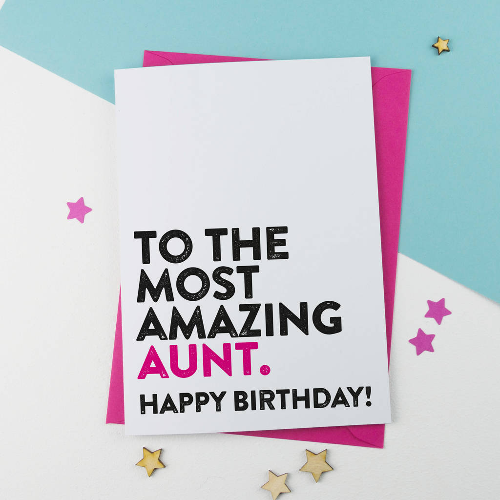 Amazing auntie aunt aunty birthday card by a is for alphabet amazing auntie aunt aunty birthday card kristyandbryce Choice Image