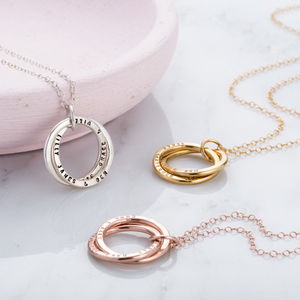 Personalised Interlinking Names Necklace - jewellery