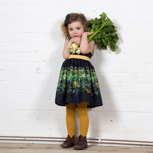Martha Navy Harvest Dress