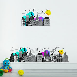 Night Town Wall Sticker