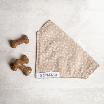 Cream Dog Bandana/Scarf For Girl Or Boys