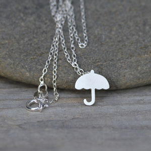 Umbrella Necklace In Sterling Silver - necklaces & pendants