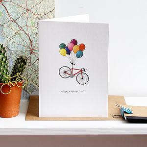 Birthday Cycling Card