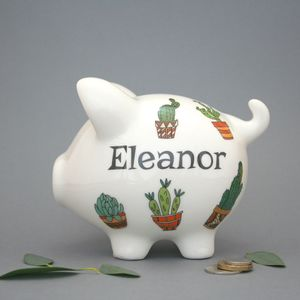 Personalised Cacti Piggy Bank
