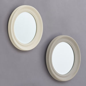 Elsbeth Grey Or Cream Wood Framed Mirror