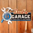 Dad's Garage Metal Gift Plaque