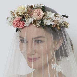 Ava Retro Horseshoe Crown - bridal hairpieces