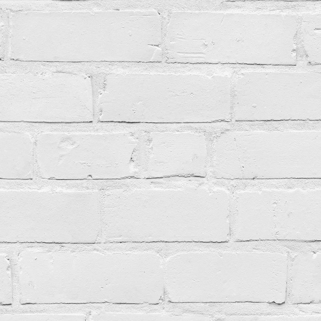 Painted White Brick Wallpaper By Woodchip And Magnolia