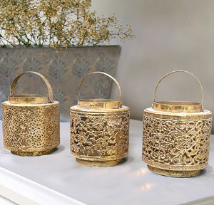 Gold Oriental Lantern - votives & tea light holders