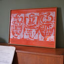 Taverna Screen Print Tangerine Unframed
