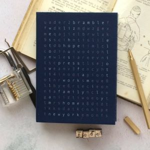 Wordsearch Diary Secret Code Personalised Diary 2019