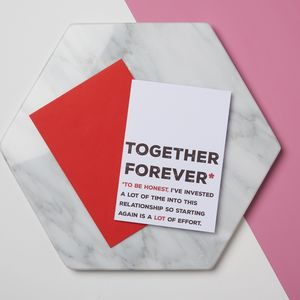 Funny Together Forever Card - funny valentine's cards