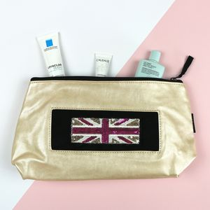 Customised Frosted Almond Wash Bag