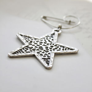 Padstow Starfish Silver Plated Swirl Pin Brooch