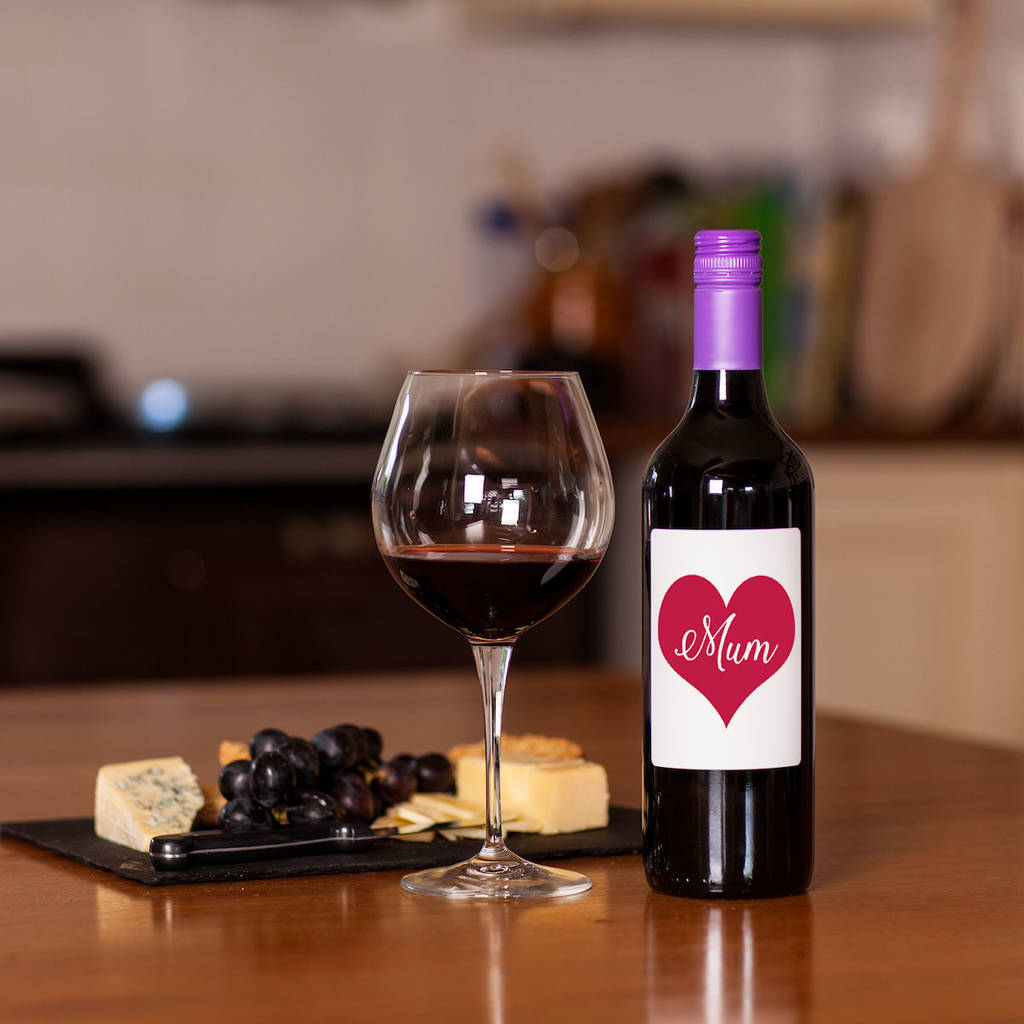 Love Heart 'Mum' Merlot Wine